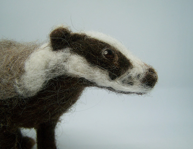 Felted Badger