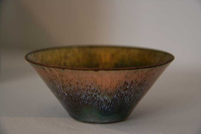 High-fired Copper on Enamel Bowl